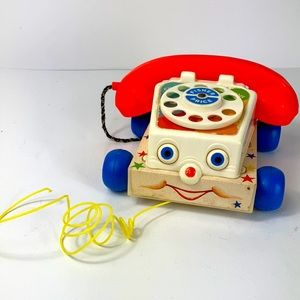 1985 Fisher Price Working Chatter Phone with Pull